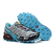 Salomon Speedcross 3 серые с голубым